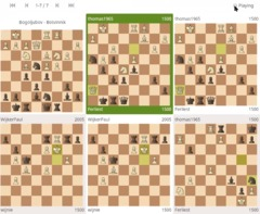 A nice extra for coaches on Lichess: See on multiple boards what each student is doing.