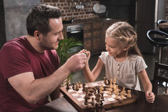 Learning chess in the family can be fun.