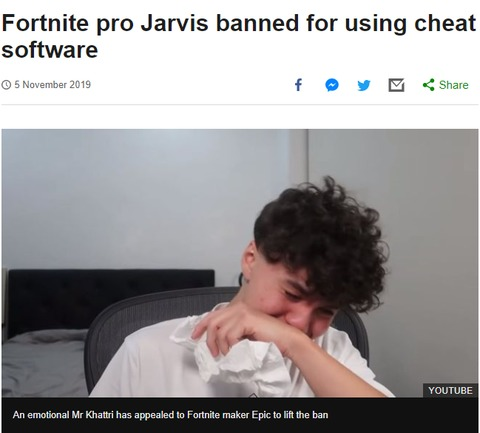 The ban of Jarvis Khattri for exposing how easy it is to cheat at Fortnite made headlines
