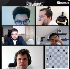 How do Fabiano Caruana, Ian Nepomniachtchi, Maxime Vachier-Lagrave, Anish Giri and Magnus Carlsen perform from their home office?