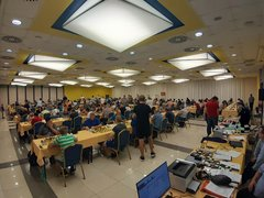 Prague Summer Open tournament hall on Saturday