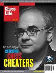 Ken Regan, pictured on the cover of the US magazine Chess Life, is the chess community's authority on cheating, but there is more research out there.