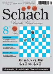 The cover of Schach magazine always comes with a stunning position. The tradition was broken with a trivial position on the cover of the August edition, where this article was originally published.