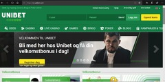 Visitors of a betting company's Norwegian site are welcomed by the world champion.