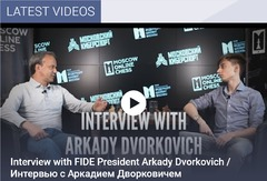 The video of the interview can also be seen on [FIDE's homepage][1].     [1]: https://www.fide.com